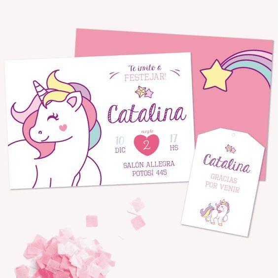 invitación unicornio