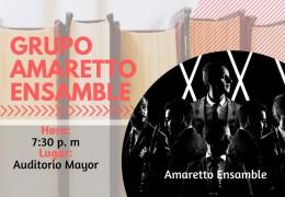 Presentación musical y artística grupo Amaretto ensamble