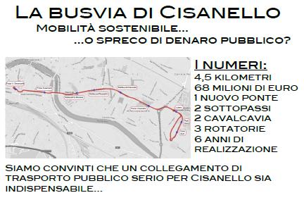 """""""Progetto Busvia di Cisanello: ma serve davvero?"""" Incontro pubblico il 4 Marzo 2016"""