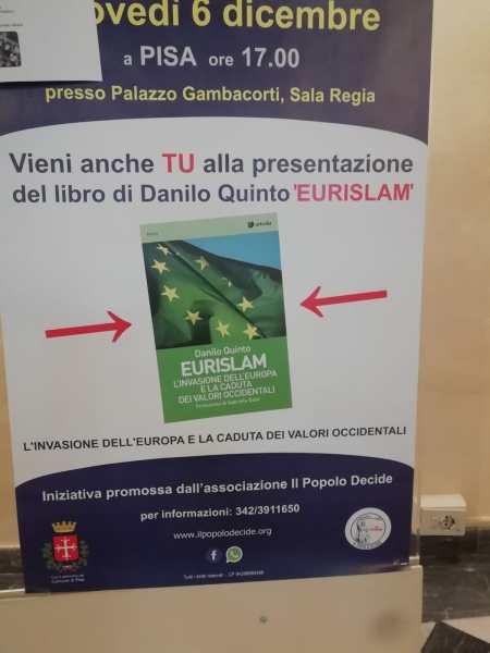"""Lettera aperta della coalizione """"Diritti in Comune"""" al sindaco di Pisa  per chiedere di ritirare il patrocinio alla presentazione del libro """"Eurislam"""""""
