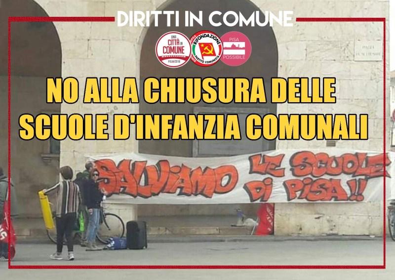 Sul futuro delle scuole comunali dell'infanzia nel Comune di Pisa