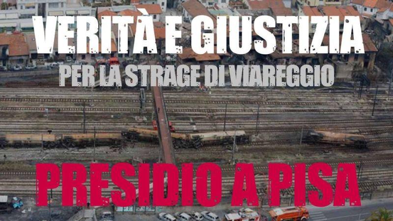 Giovedì scorso Pisa in piazza, a fianco dei familiari delle vittime della strage di Viareggio