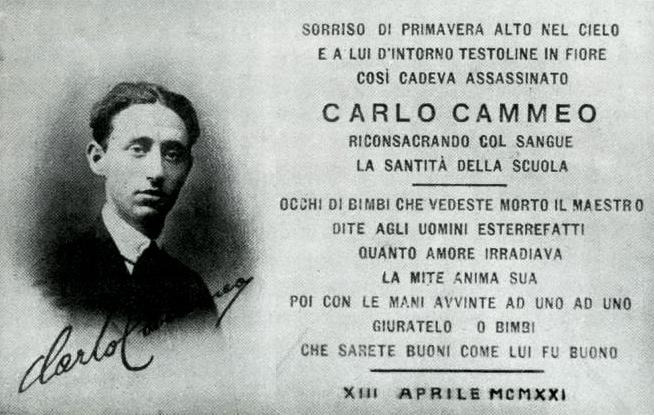 Cento anni dall'assassinio di Carlo Cammeo per mano fascista. L'omaggio di Una città in comune