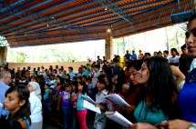 The choir, leading the rest of the Ranch in song.