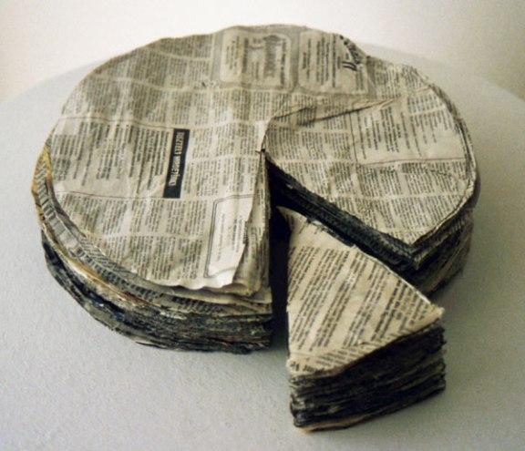 Newspaper cake (1967)