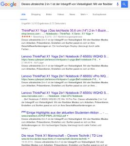 Produkttexte - duplicate content in den Suchergebnissen der Google-Suche