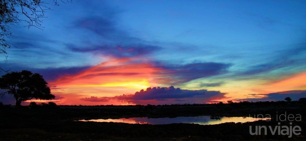 Puesta de sol Etosha National Park