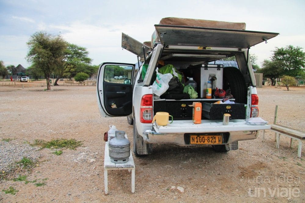 Camping Etosha National Park, Namibia