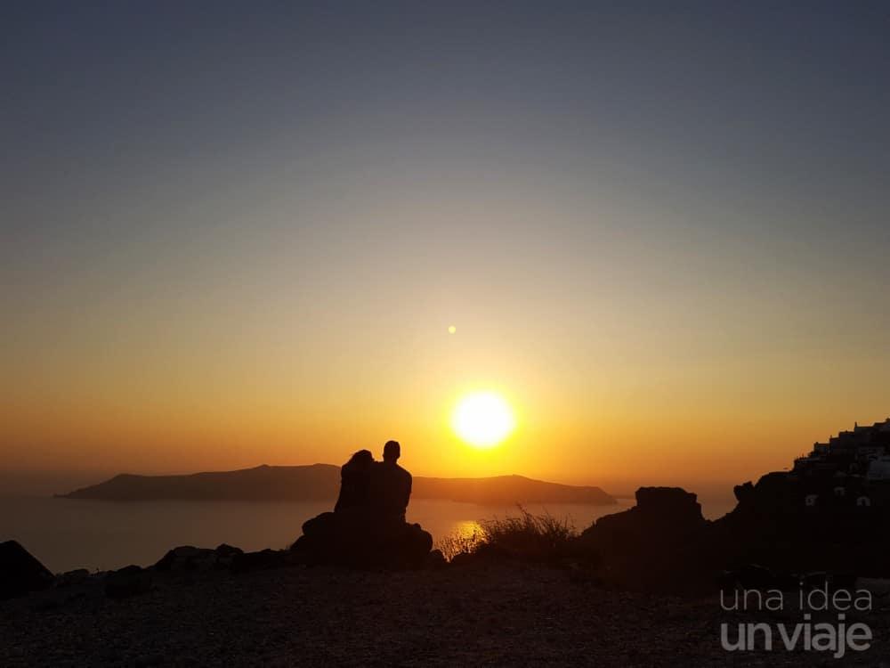 Puesta de sol en Imerovigli, Santorini