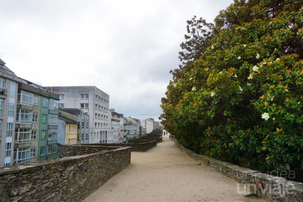 Vistas desde la muralla romana de Lugo