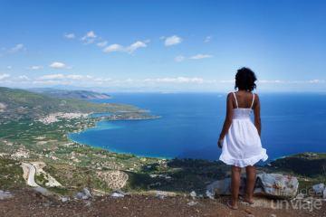 Vistas de las carreteras del Peloponeso