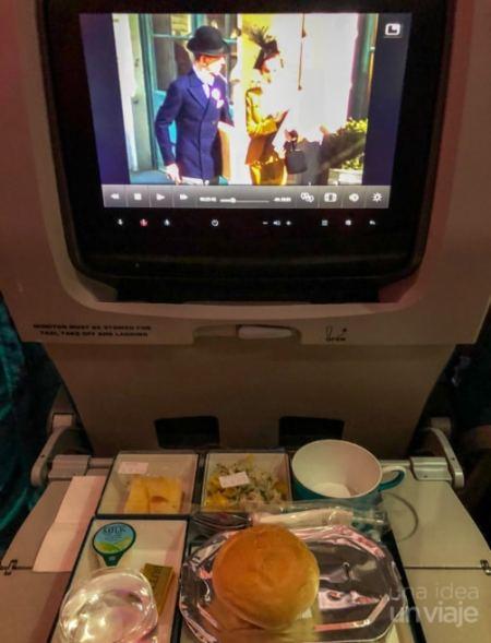 Avión SriLankan Airlines - entretenimiento a bordo