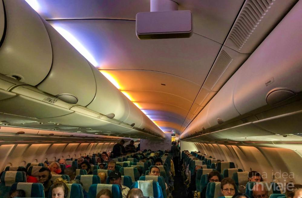 Avión SriLankan Airlines - interior