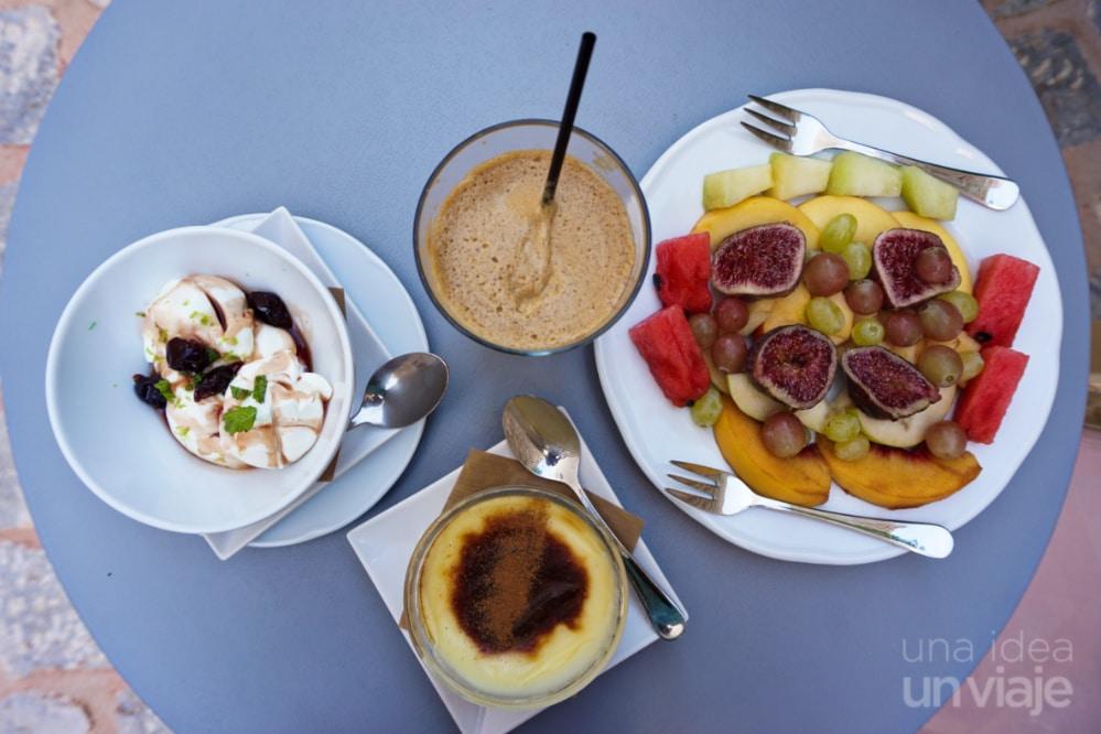 Desayuno Hotel Antares Mani , Areopolis