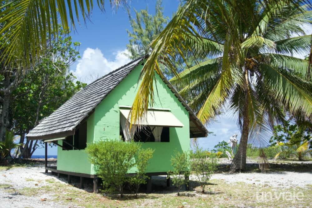 Bungalow en Fakarava- Viajar a Polinesia Francesa: Consejos