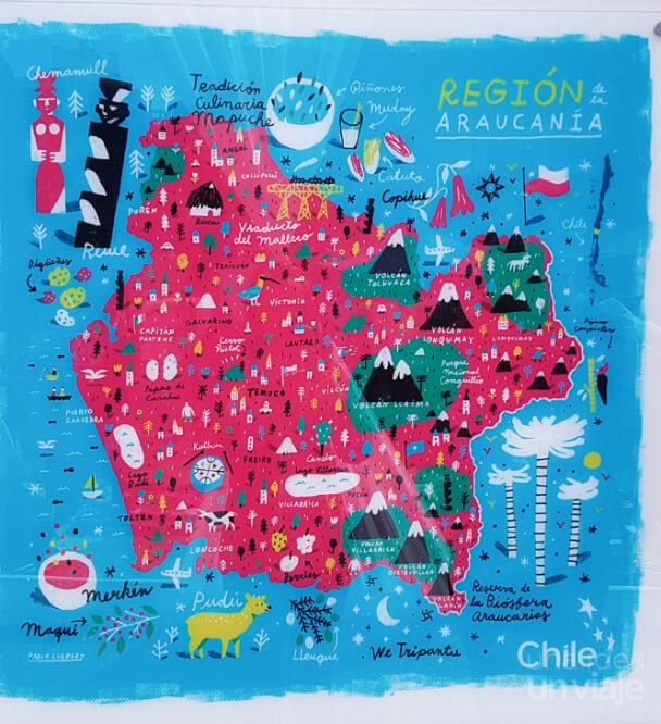 Qué ver en La Araucanía - Mapa