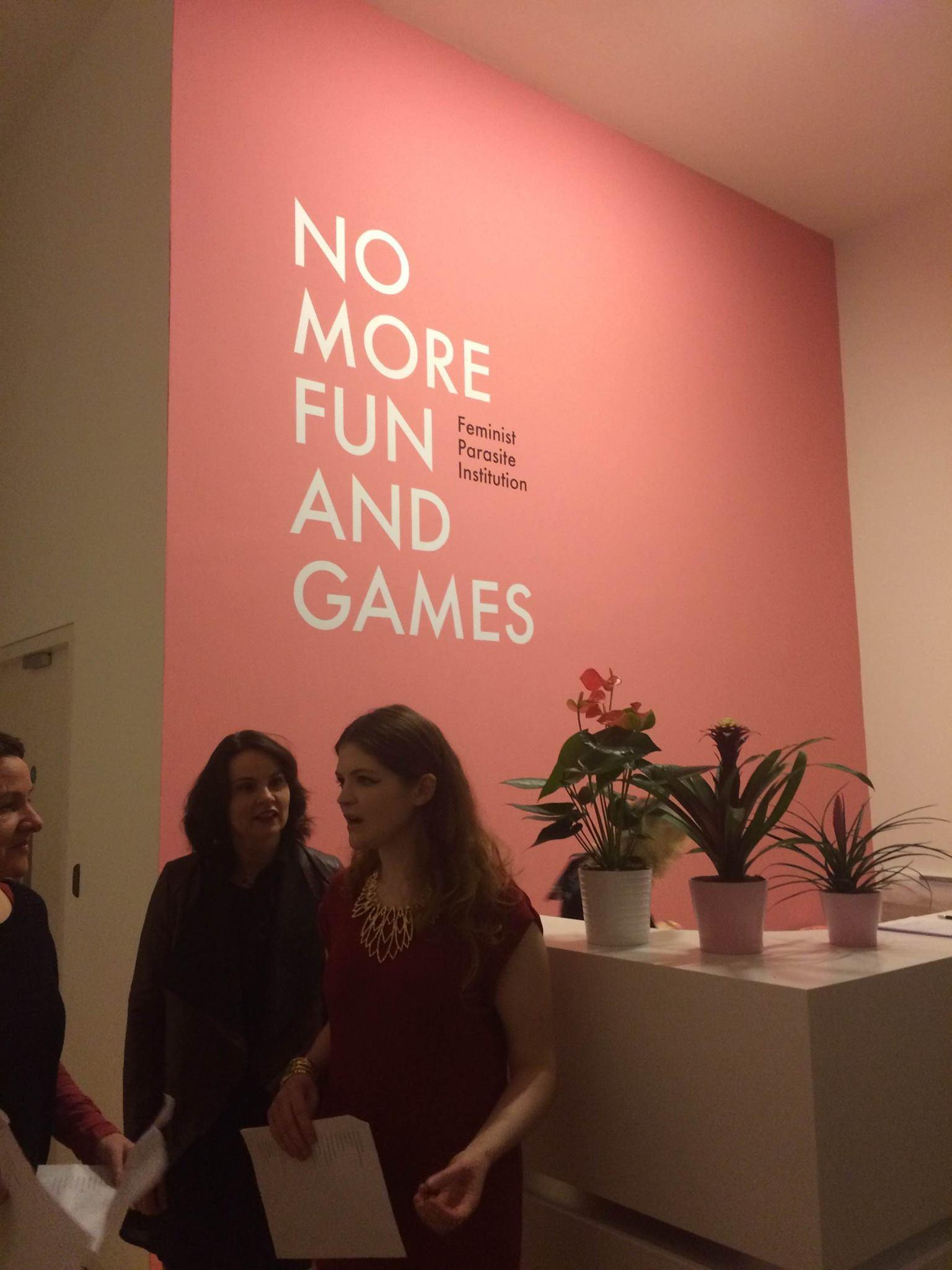 No more fun and games, Feminist Parasite Institution, Jesse Jones at The Hugh Lane Gallery