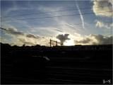 Langit Delft ditemani awan yang menari