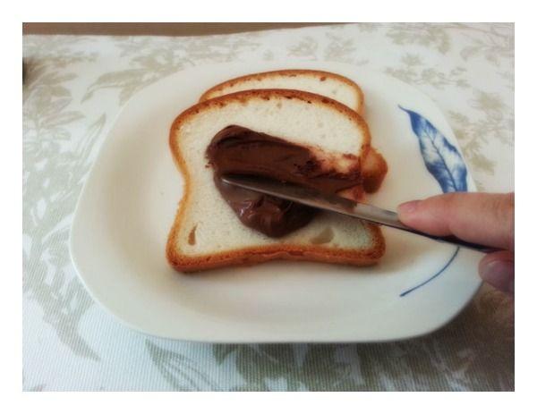 tostada de Nutella
