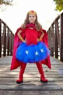 disfraz super heroina niña