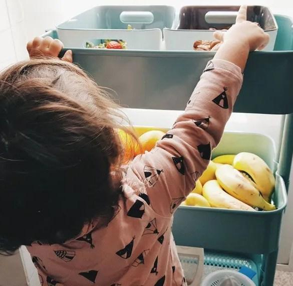 Una cocina en orden y adaptada a niños
