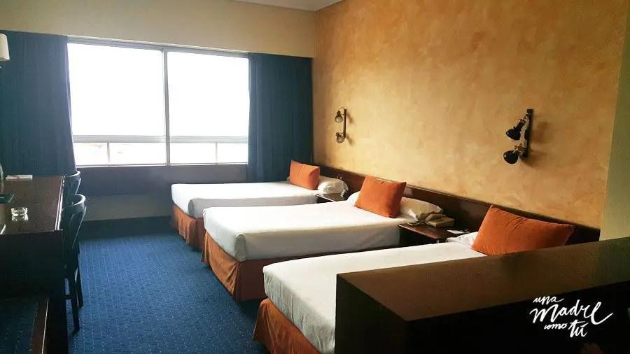 habitación hotel bahía de vigo