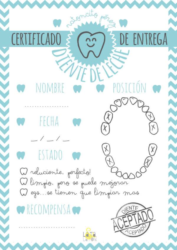 certificados y cartas del Ratoncito Pérez