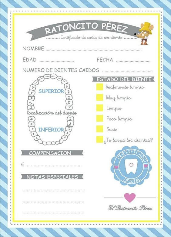 Certificados y cartas del ratoncito p rez para imprimir - Regalos de muebles gratis ...