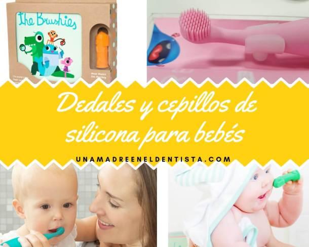 Dedales y cepillos de silicona para bebés