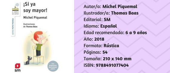 Ficha del libro ¡Si ya soy mayor!