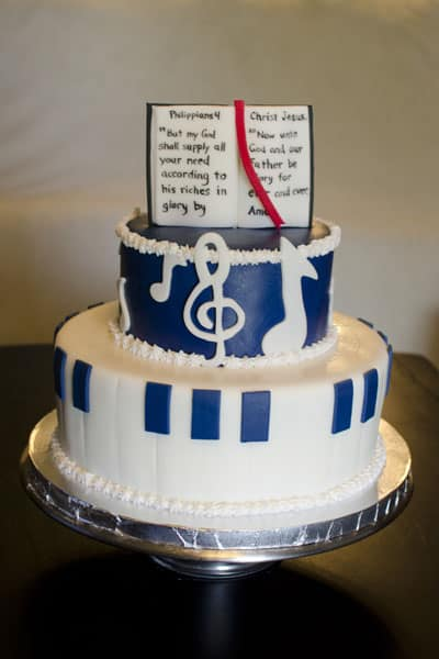 Musical Navy Blue Bible Cake U Name It Creative Services