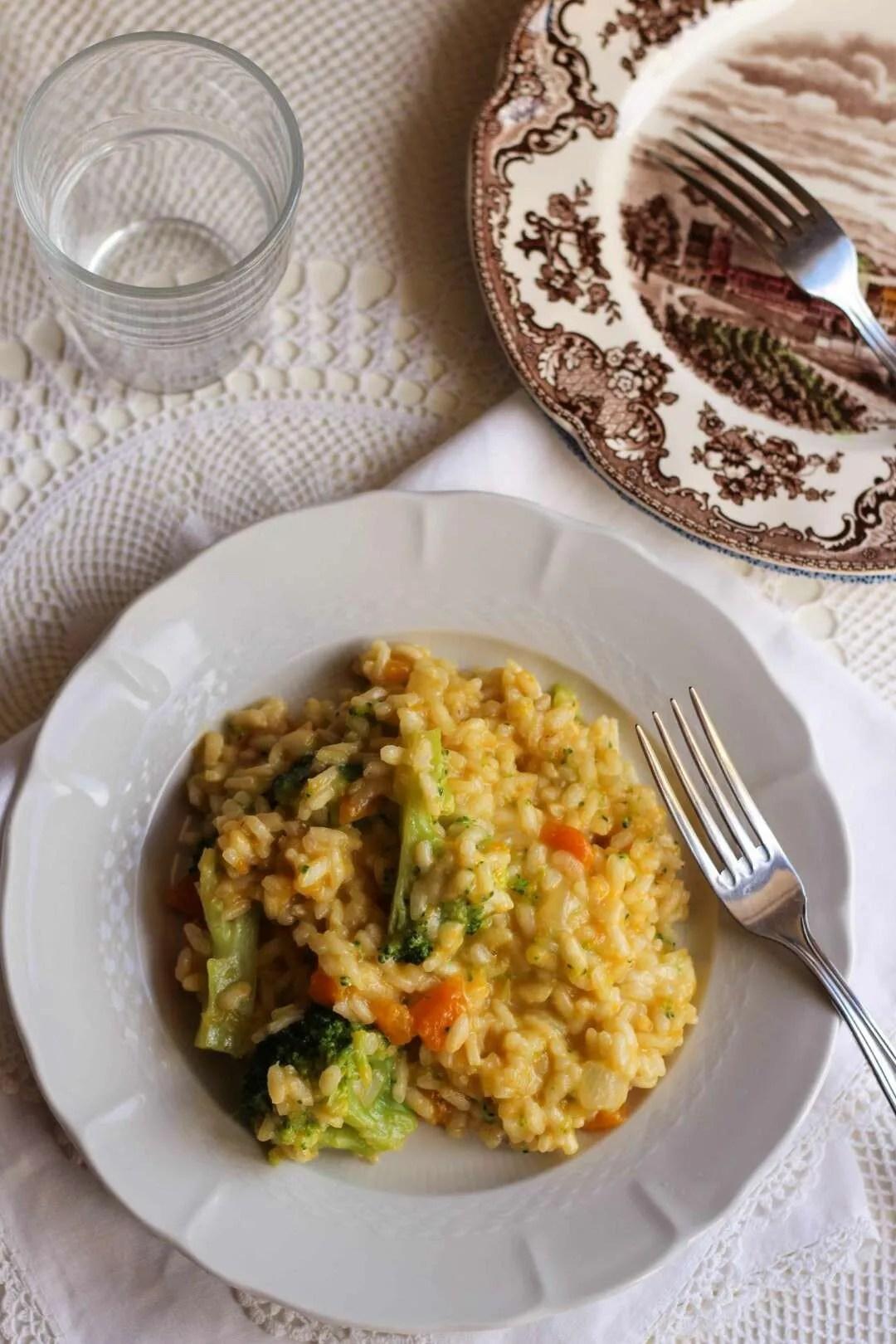 ricetta del risotto con zucca e broccolo