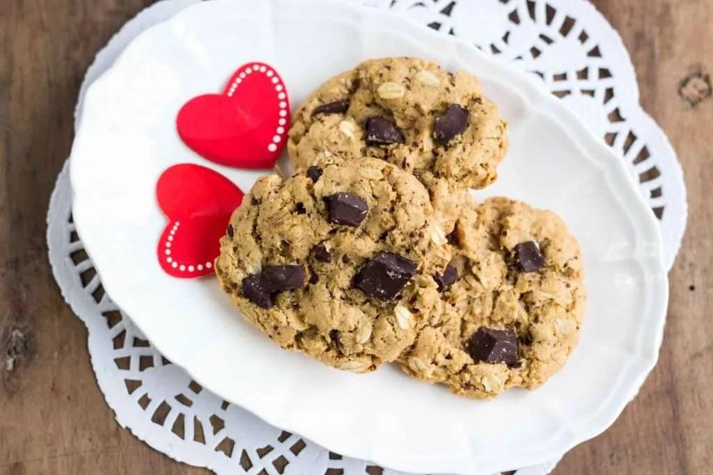 la ricetta dei cookies avena e cioccolato senza burro