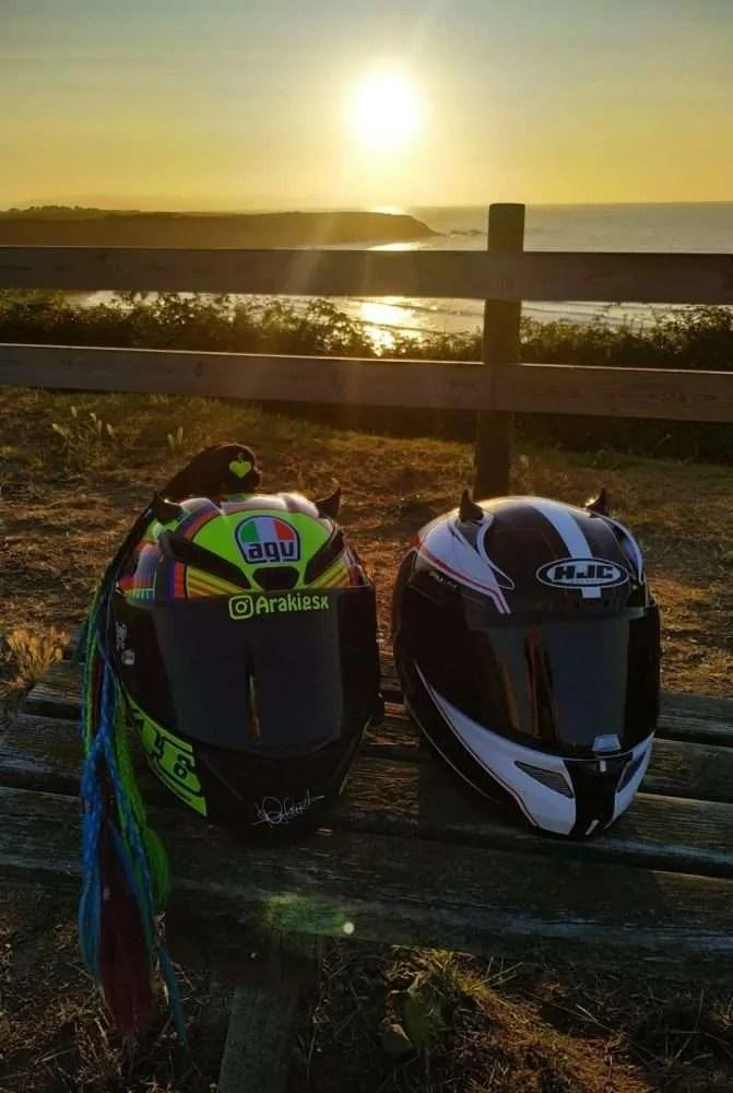 ¿Es seguro mi casco de moto?