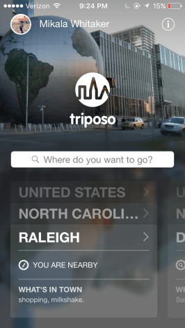 The Triposo home page