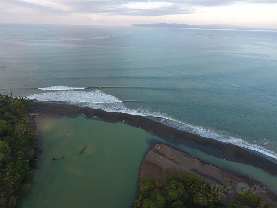 aerial view of Rio Claro de Pavones, Costa Rica