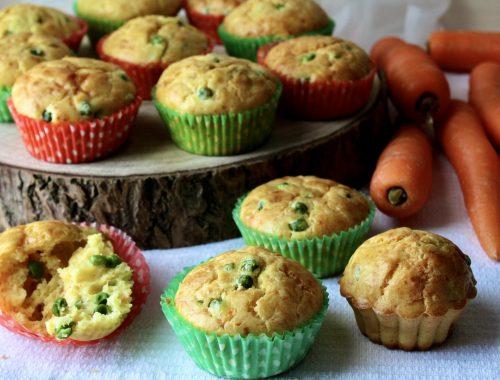 muffin con verdure carote piselli e patate