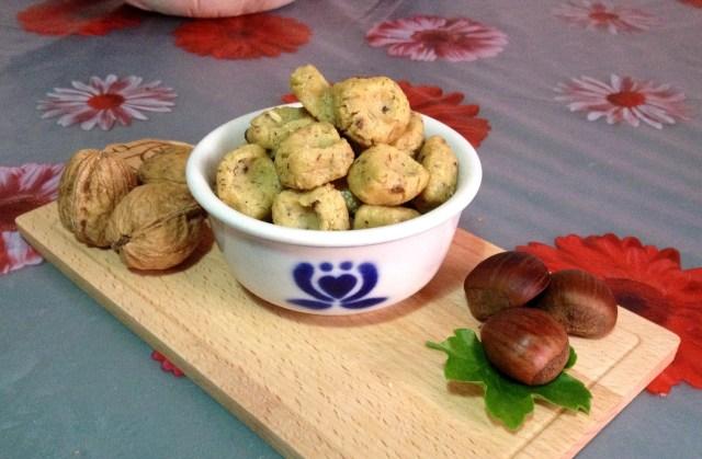 Gnocchi di castagne alle noci