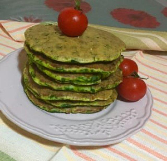 Pancakes Salati agli Spinaci