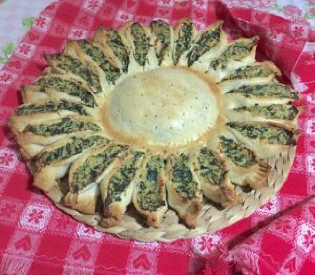 Girasole di Pasta Brisè, Ricotta e Spinaci 8