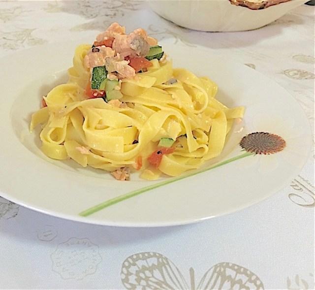 Pasta Salmone Fresco e Zucchine 2