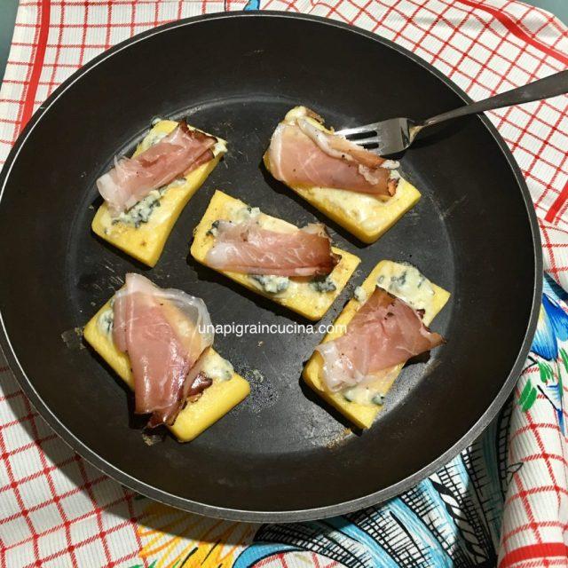 Crostoni di Polenta Speck e Gorgonzola 1