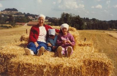 Saint-Agrève, moissons 1983