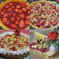 Crostata di fragole con confettura homemade e fragole fresche