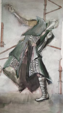 Costume design concept for Shakespeare's play Macbeth, King of Scotland by Francesca Cioanca