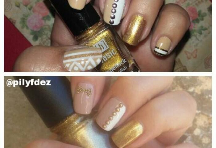 Nail Art Elegante Con Toques Dorados Uñas A Mil