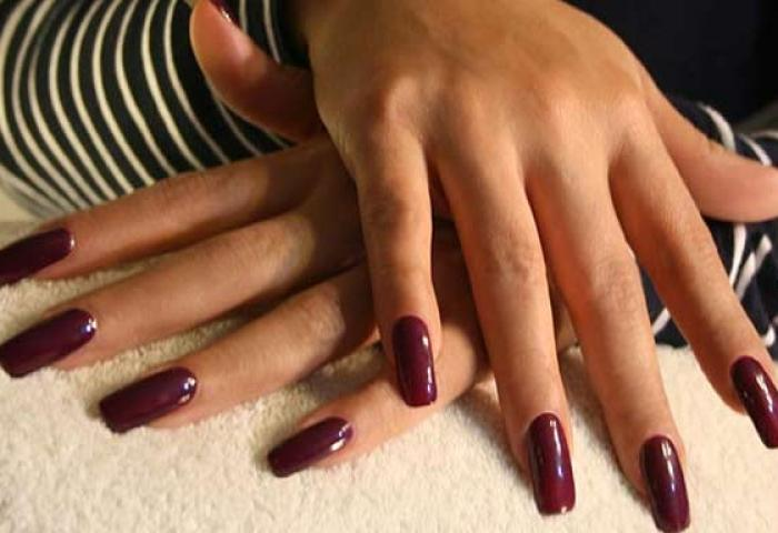 Uñas Decoradas Color Vino Tinto Uñasdecoradas Club