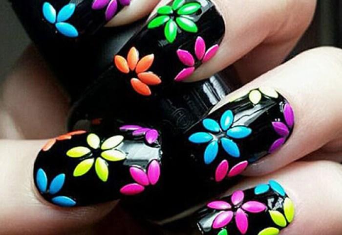 Uñas Decoradas Con Flores Sencillas De Hacer Uñasdecoradas Club