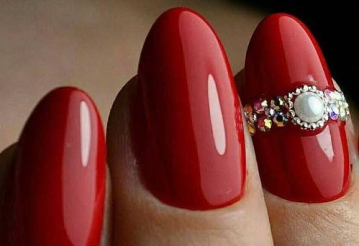 Uñas Decoradas Color Rojo Uñasdecoradas Club
