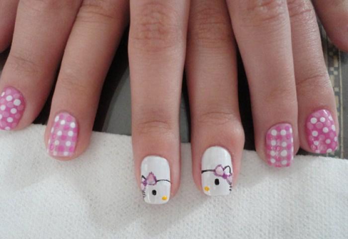 Uñas Decoradas De Hello Kitty Coloridas Y Vistosas Uñasdecoradas Club